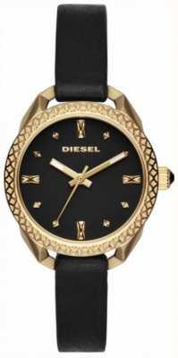 Diesel Czarno-złoty zegarek damski DZ5547