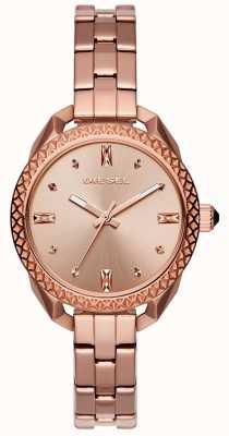 Diesel Zegarek damski z różowo-złotej bransoletki DZ5549