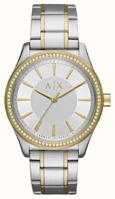 Armani Exchange Panie dwubarwny zegarek nicolette AX5446