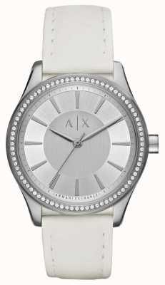 Armani Exchange Damski zegarek na białym pasku AX5445
