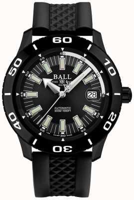 Ball Watch Company Stojak na ognioodporny nylonowy pasek z czarnej gumy DM3090A-P4J-BK