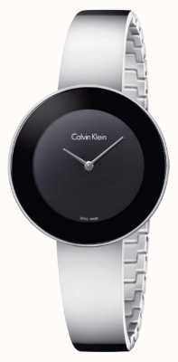 Calvin Klein Elegancka czarna bransoleta ze stali nierdzewnej K7N23C41