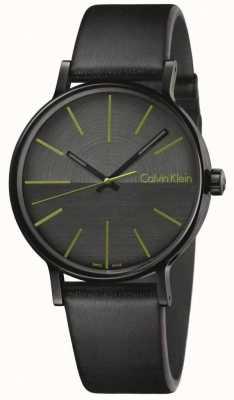 Calvin Klein Mężczyźni zwiększają indeksy czarnej skóry K7Y214CL