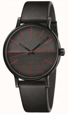Calvin Klein Mężczyźni zwiększają czarne, czerwone, skórzane indeksy K7Y214CY