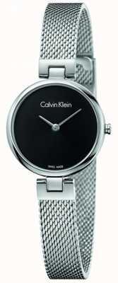 Calvin Klein Womans autentyczna bransoleta ze stali nierdzewnej czarna tarcza K8G23121