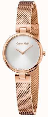 Calvin Klein Womans autentyczna powlekana pasemkami bransoletka z różowego złota K8G23626