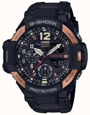 Casio Męski zegarek grawitacyjny męski g-shock aviator ga-1100rg-1adr GA-1100RG-1AER