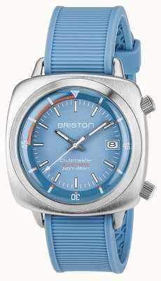 Briston Unisex nurek klubowy nylon szczotkowany stalowy niebieski 17642.S.D.18.RLB