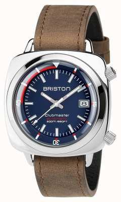 Briston Unisex clubmaster diver ze stali szczotkowanej ze stali nierdzewnej 17642.PS.D.15.LVBR