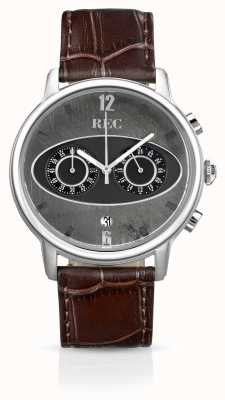 REC Mark 1 m1 chronograf brązowy skórzany pasek M1