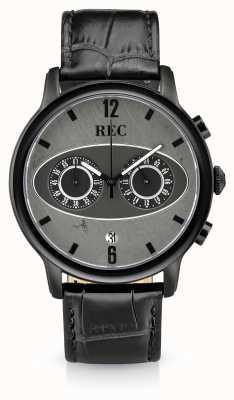 REC Mark 1 m3 chronograf czarny skórzany pasek M3
