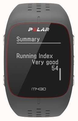 Polar M430 szary gumowy zegarek sportowy | 90064404
