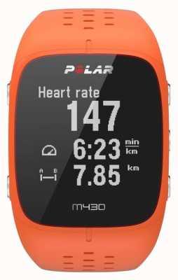 Polar Pomarańczowy sportowy zegarek M430 90064410