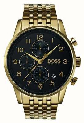 Boss Męski nawigator klasyczny czarny zegarek tarczowy 1513531