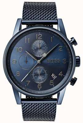 Boss Męski metalowy zegarek z chronografem i siatką chronografu 1513538