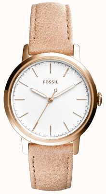 Fossil Womans neeley beżowy skórzany pasek ES4185