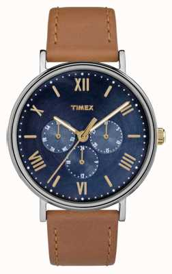 Timex Męskie southview wielofunkcyjny chronograf brązowy TW2R29100