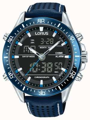 Lorus Męski sport analogowy / cyfrowy chronograf niebieski RW643AX9