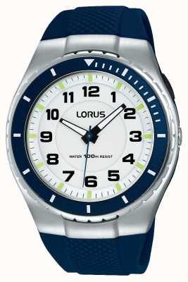 Lorus Męski sportowy, funkcjonalny pasek silikonowy w kolorze czarnym R2329LX9