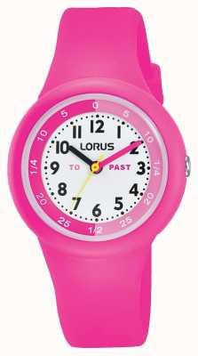 """Lorus Dzieci """"przeszłe"""" """"do"""" oglądania różowego silikonu RRX99EX9"""