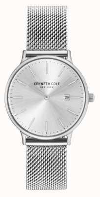 Kenneth Cole Womans siatka ze stali nierdzewnej srebrna tarcza KC15057007
