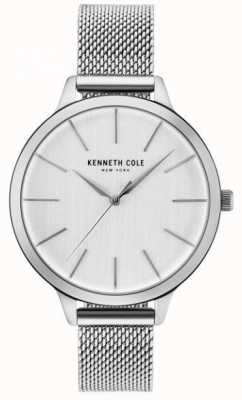 Kenneth Cole Womans srebrna tarcza ze srebrnej siatki ze stali nierdzewnej KC15056009
