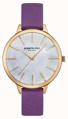 Kenneth Cole Womans fioletowy pasek skórzany pasek perłowy KC15056002