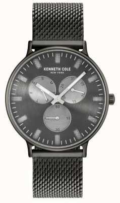 Kenneth Cole Wielofunkcyjna bransoleta ze stali męskiej z tarczą jonową KC14946015
