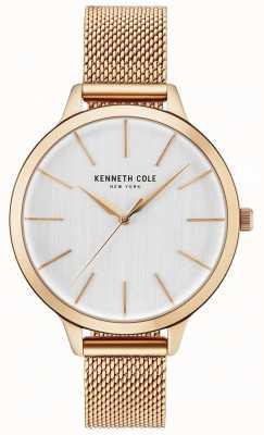 Kenneth Cole Womans biała bransoleta z różowego złota KC15056014