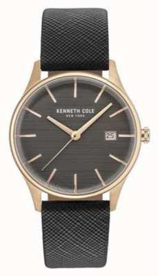 Kenneth Cole Womans brązowo-szary skórzany pasek na sztyft KC15109001