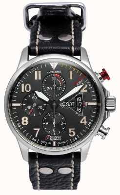 Junkers Męskie junkery 3 eurofighter chronograph automatyczny czarny 6826-5