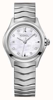 EBEL Damski zegarek ze stali damskiej Wave z diamentem 1216193