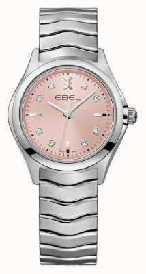 EBEL Fala damska różowy zegarek ze stali nierdzewnej 1216217