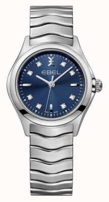 EBEL Zegarek ze stali damskiej z niebieską tarczą ze stali nierdzewnej 1216315
