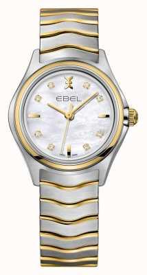EBEL Damski dwukolorowy zegarek Wave | srebrno-złoty pasek | 1216197