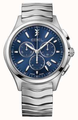 EBEL Zegarek męski z niebieskim zegarem Wave zegarków 1216344