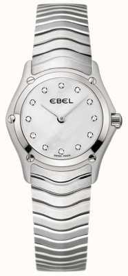 EBEL Klasyczny damski zegarek ze stali nierdzewnej w kształcie diamentu 1215421