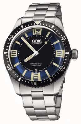 Oris Divers sześćdziesiąt pięć automatyczna niebieska tarcza ze stali nierdzewnej 01 733 7707 4035-07 8 20 18
