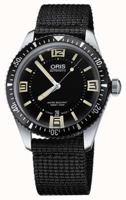 Oris Divers sześćdziesiąt pięć automatyczny pasek z czarnej tkaniny 01 733 7707 4064-07 5 20 24