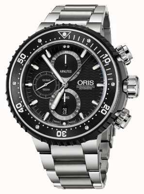 Oris Prodiver 1000m automatyczny chronograf tytanowy 01 774 7727 7154-SET