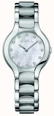 EBEL Damski zestaw diamentowy beluga ze stali nierdzewnej 1216038