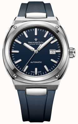 Dreyfuss Męski automatyczny chronometr 1953 ciemnoniebieski DGS00154/05