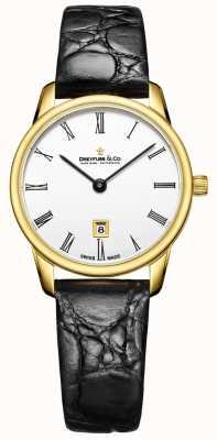 Dreyfuss Womans 1980 skórzany pasek złoty zegarek DLS00136/01