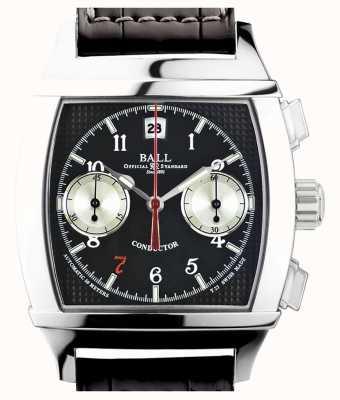 Ball Watch Company Vanderbilt czarna dyktafon z chronografem z limitowanej edycji CM2068D-LJ-BK