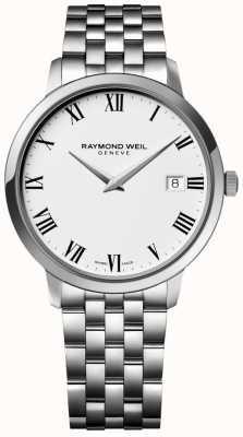 Raymond Weil Toccata męska ze stali nierdzewnej bransoleta biała tarcza 5588-ST-00300
