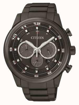 Citizen Męski eco chronograf czarny ip CA4035-57E