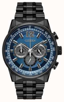 Citizen Męski eko-dysk nighthawk chronograf czarny ip CA4375-59L