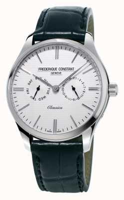 Frederique Constant Męski klasyczny czarny skórzany pasek / zielony pasek nato FC-259ST5B6
