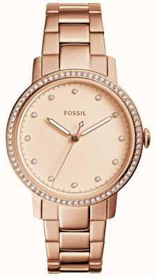 Fossil Damski neely różany złoty zegarek ES4288