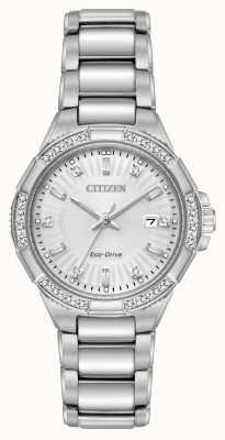 Citizen Diamentowy zestaw diamentowy Riva ze stali nierdzewnej EW2460-56A